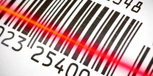 Image of a barcode being scanned